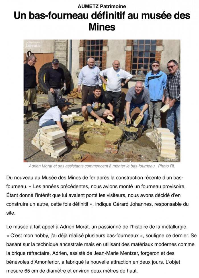 Aumetz muse e des mines bas fourneau 03 05 2019 1
