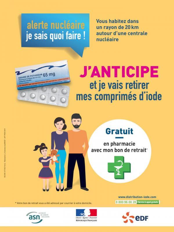 Edf iode affiche preventive retrait iode