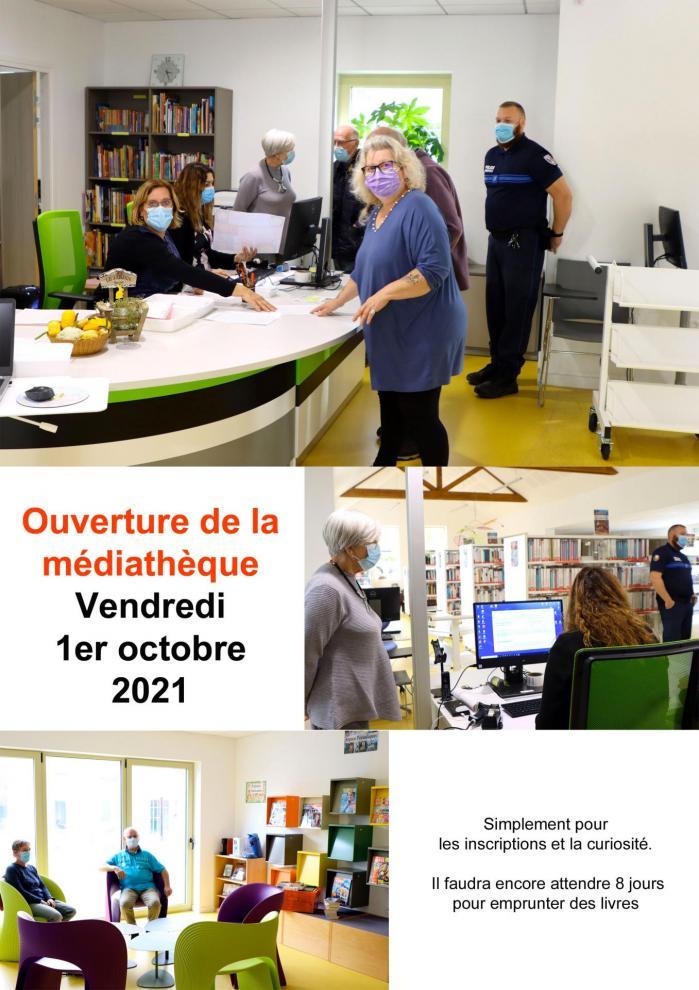 Ouverture mediatheque 1 10 2021